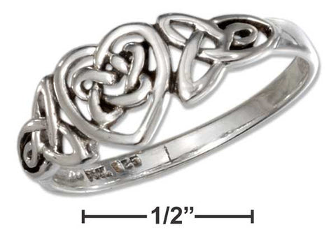 Sterling Silver Celtic Ring With Trinity And Heart Knots | Jewelry Store