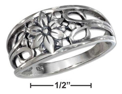 Sterling Silver Filigree Flower Band | Jewelry Store
