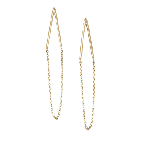 14 Karat Gold Plated Chain Drop Earrings | Jewelry Store