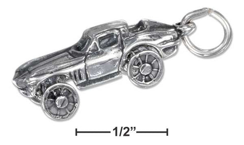 Sterling Silver Three Dimensional Car Charm With Moving Wheels | Jewelry Store