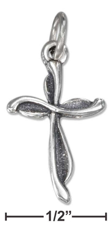 Sterling Silver Antiqued Swirl Cross Charm | Jewelry Store