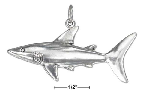 Sterling Silver Shark Charm | Worlds Largest Jewelry Store