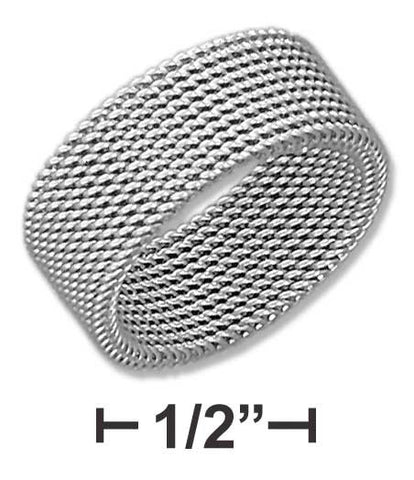 Stainless Steel Womens 8mm Soft Mesh Band | Jewelry Store