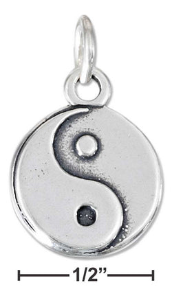 Sterling Silver Yin Yang Charm | Worlds Largest Jewelry Store