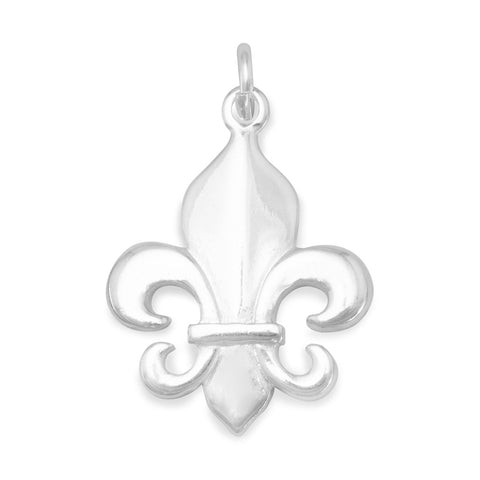 Polished Fleur de Lis Charm | Worlds Largest Jewelry Store