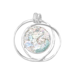Open Wire Design Ancient Roman Glass Pendant | Jewelry Store