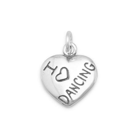 I Love DANCING Charm | Worlds Largest Jewelry Store