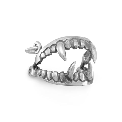 Oxidized Fangs Charm | Worlds Largest Jewelry Store