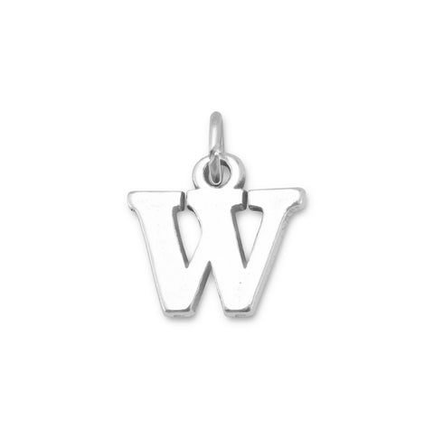 "Oxidized ""W"" Charm 