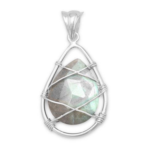 Wire Wrap Labradorite Pendant | Worlds Largest Jewelry Store