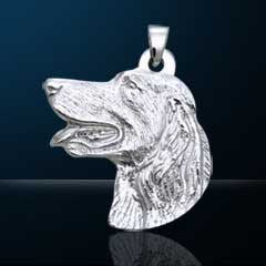 Nebula Tech Metal Golden Retriever Pendant | Jewelry Store
