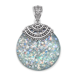 Roman Glass Beaded Top Pendant | Worlds Largest Jewelry Store