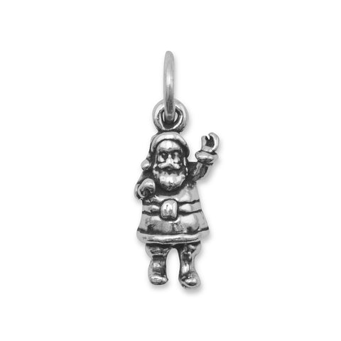 Oxidized Santa Claus Charm | Worlds Largest Jewelry Store
