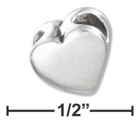 Sterling Silver High Polish Heart Shape Spacer Bead | Jewelry Store