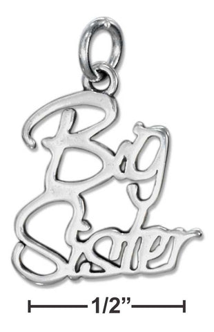 Sterling Silver Script Big Sister Charm | Jewelry Store