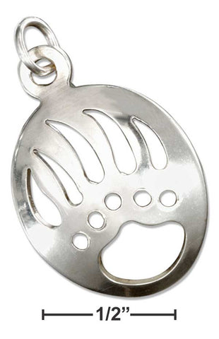 Sterling Silver Bear Paw Cutout Charm | Jewelry Store