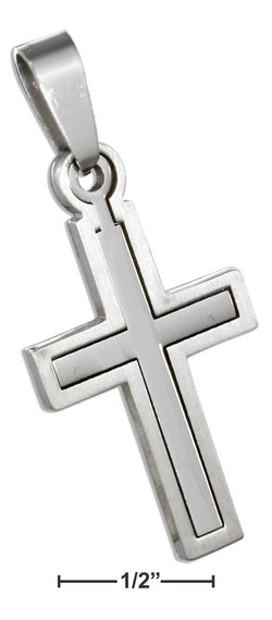 Stainless Steel Cross Pendant With Moveable Inner Cross | Jewelry Store