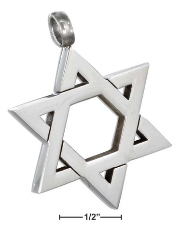 Stainless Steel Star Of David Pendant | Jewelry Store