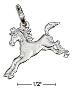 Sterling Silver Small Running Horse Charm | Jewelry Store