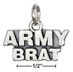 "Sterling Silver ""Army Brat"" Charm 