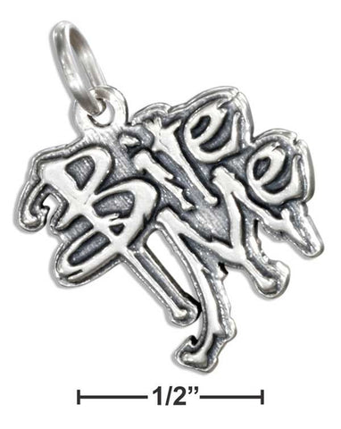 "Sterling Silver ""Bite Me"" Charm 