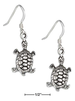 Sterling Silver Antiqued Turtle Earrings | Jewelry Store