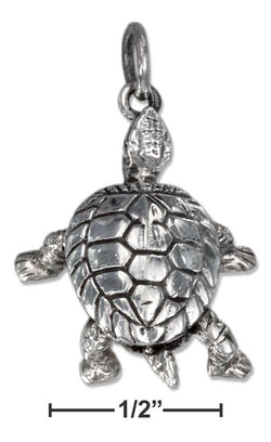 Sterling Silver Turtle Pendant With Moveable Arms And Legs | Jewelry Store