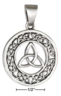 Sterling Silver Round Celtic Trinity Knot Pendant | Jewelry Store