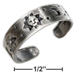 Sterling Silver Sun Moon And Star Toe Ring | Jewelry Store
