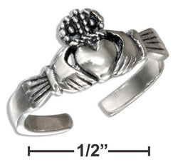 Sterling Silver Antiqued Irish Claddagh Toe Ring | Jewelry Store