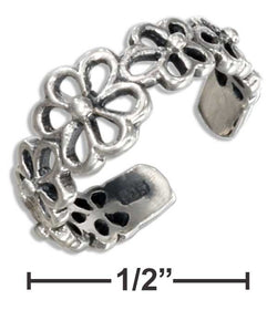 Sterling Silver Open Flowers Toe Ring | Jewelry Store