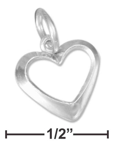 Sterling Silver Small Open Heart Charm | Jewelry Store