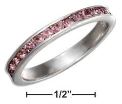 Sterling Silver June Birthstone Light Purple Crystals Eternity Band Ring | Jewelry Store
