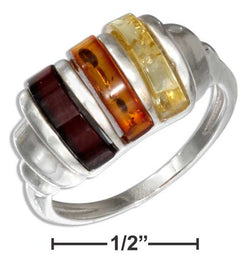Sterling Silver Multicolor Amber Dome Ring | Jewelry Store