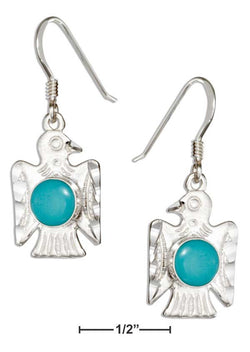 Sterling Silver Simulated Turquoise Thunderbird Earrings | Jewelry Store