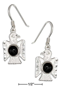 Sterling Silver Simulated Black Onyx Thunderbird Earrings | Jewelry Store