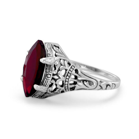 Oxidized Garnet Ring | Worlds Largest Jewelry Store