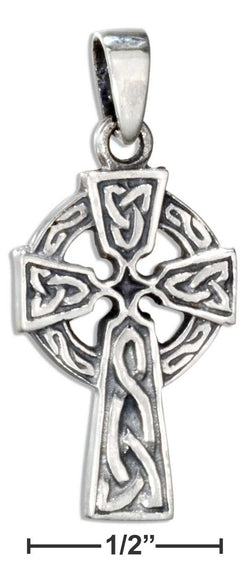 Sterling Silver Small Antiqued Celtic Cross Pendant | Jewelry Store