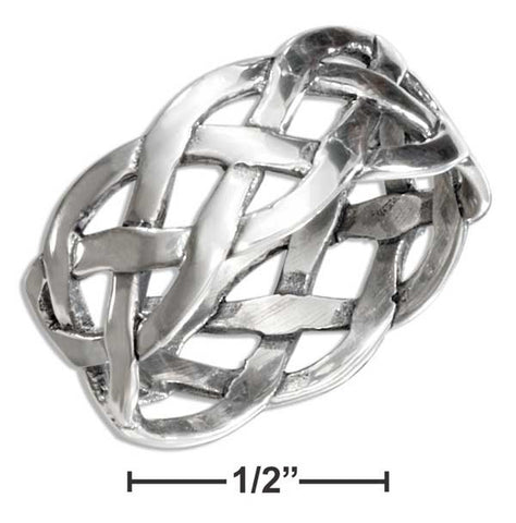 Sterling Silver Open Weave Braided Band Ring | Jewelry Store