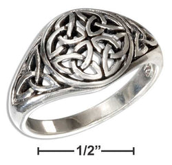 Sterling Silver Round Celtic Trinity Knot Dome Ring | Jewelry Store