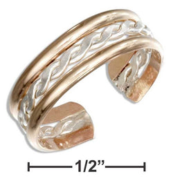 Sterling Silver And 12 Karat Gold Filled Twist Toe Ring | Jewelry Store