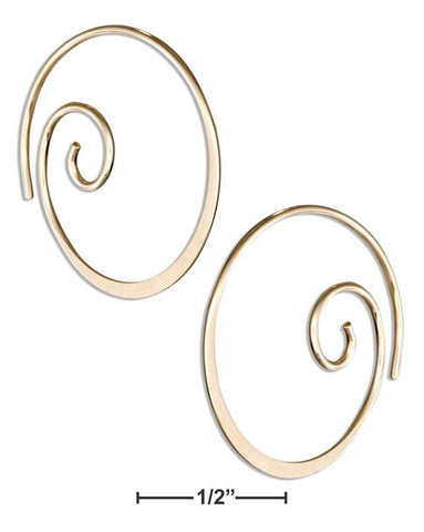 12 Karat Gold Filled 22mm Curly Spiral Threader Wire Hoop Earrings | Jewelry Store