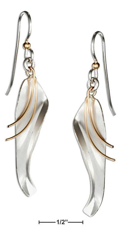 Sterling Silver And 12 Karat Gold Filled Fancy Leaf Earrings | Jewelry Store