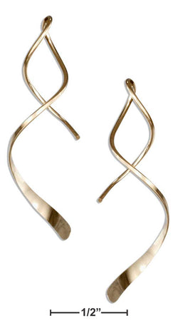 "12 Karat Gold Filled 1.5"" Spiral Streamer Curly Wire Earrings 