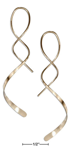 "12 Karat Gold Filled 2"" Spiral Streamer Curly Wire Earrings 
