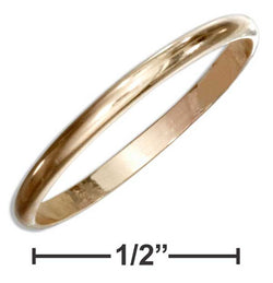 12 Karat Gold Filled 1.5mm Wedding Band Ring | Jewelry Store