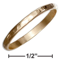 12 Karat Gold Filled 2mm Hammered Wedding Band Ring | Jewelry Store