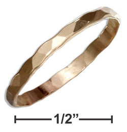 12 Karat Gold Filled 2mm Flat Hammered Wedding Band Ring | Jewelry Store