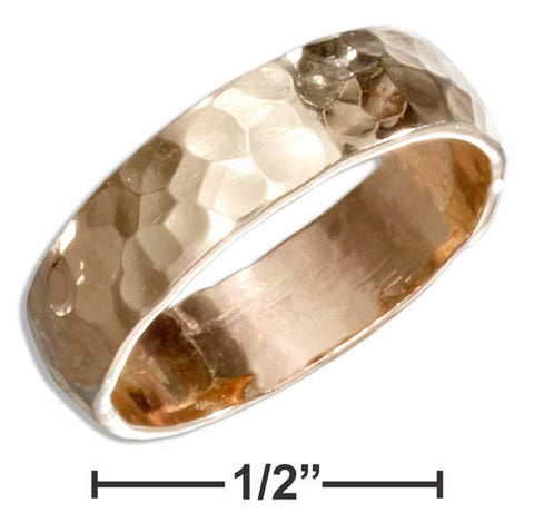 12 Karat Gold Filled 5mm Flat Hammered Wedding Band Ring | Jewelry Store