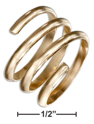 12 Karat Gold Filled Wide Coil Wrap Ring | Jewelry Store